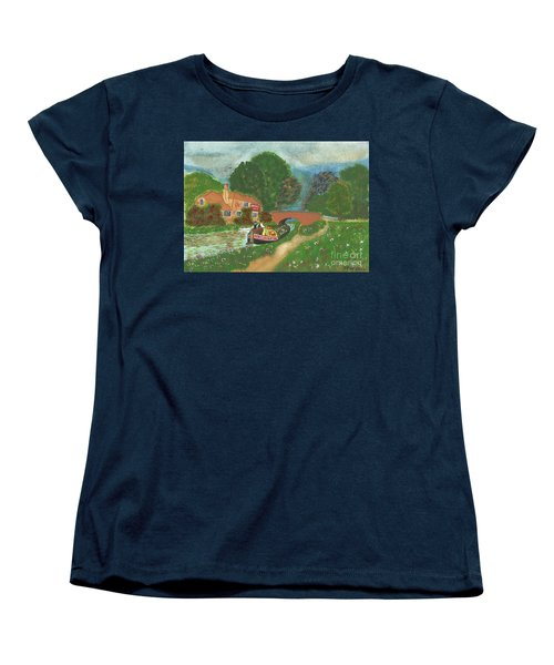 Women's T-Shirt (Standard Cut) featuring the painting The Bridge Inn by John Williams