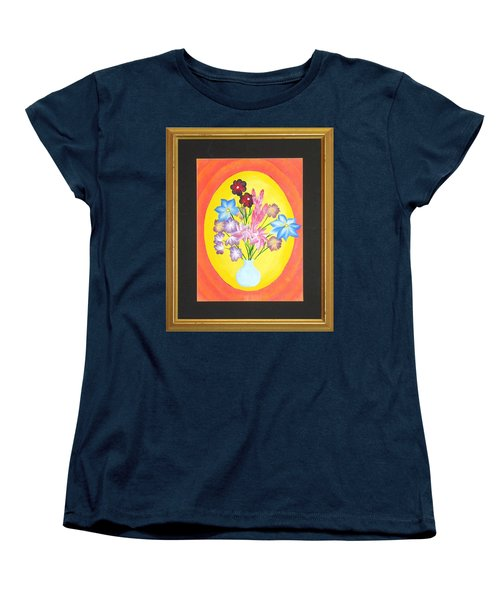Women's T-Shirt (Standard Cut) featuring the painting The Bud Vase by Ron Davidson