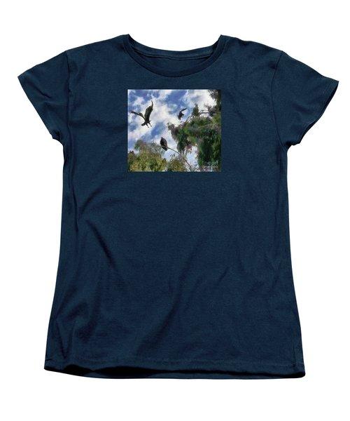 Women's T-Shirt (Standard Cut) featuring the digital art The Buzzard Tree by Rhonda Strickland