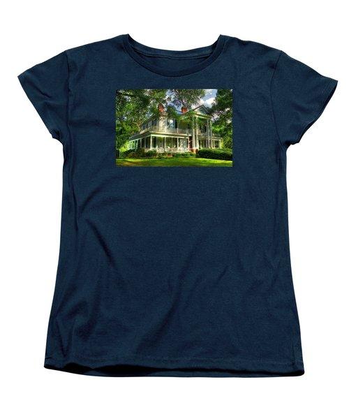 A Southern Bell The Carlton Home Art Southern Antebellum Art Women's T-Shirt (Standard Cut) by Reid Callaway