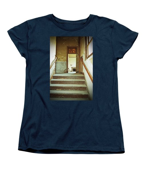 The Chair At The Top Of The Stairs Women's T-Shirt (Standard Cut) by Holly Blunkall