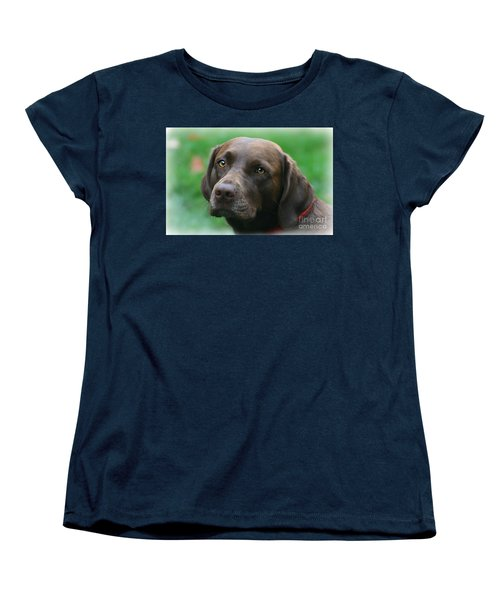 The Chocolate Lab Women's T-Shirt (Standard Cut) by Barbara S Nickerson