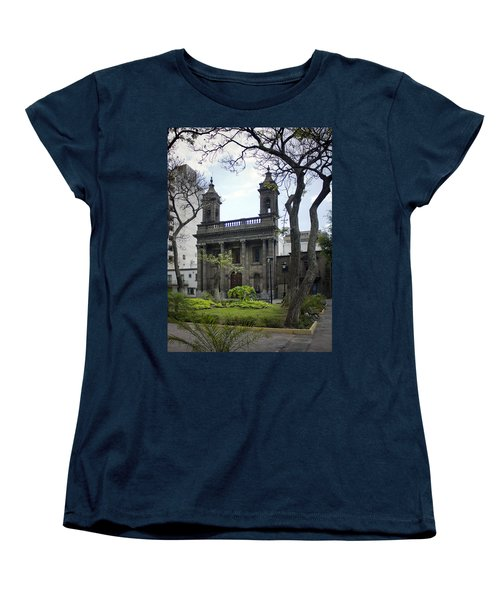 Women's T-Shirt (Standard Cut) featuring the photograph The Church Green by Lynn Palmer