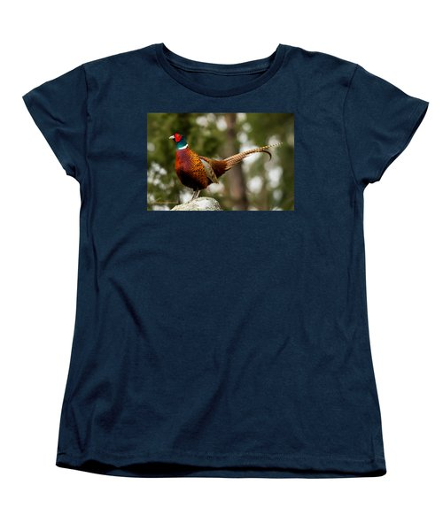 The Cock On Top Of The Rock Women's T-Shirt (Standard Cut) by Torbjorn Swenelius