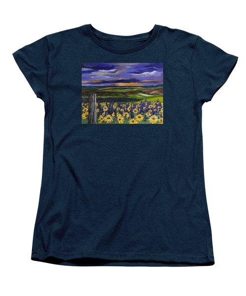 The Colors Of The Plateau Women's T-Shirt (Standard Cut) by Jennifer Lake