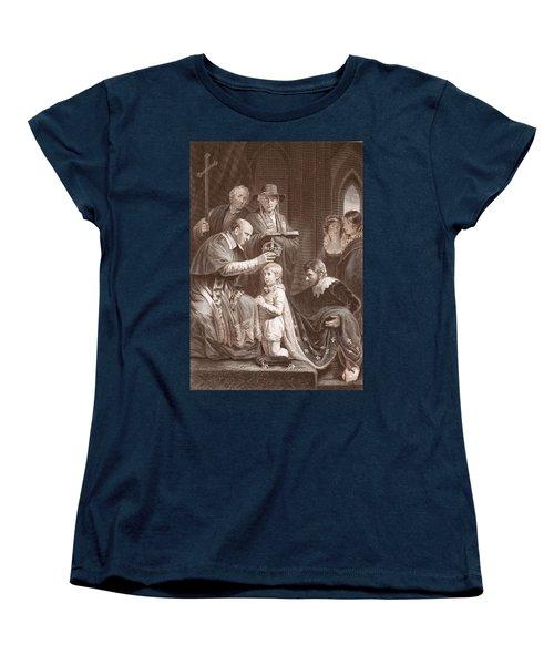 The Coronation Of Henry Vi, Engraved Women's T-Shirt (Standard Cut) by John Opie