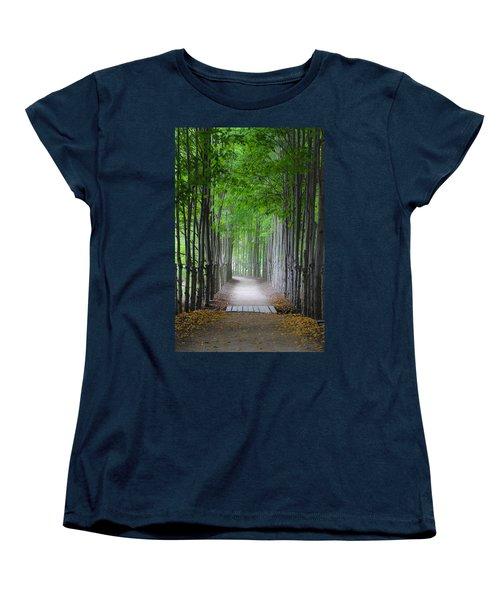 The Corridor Women's T-Shirt (Standard Cut) by Eduard Moldoveanu