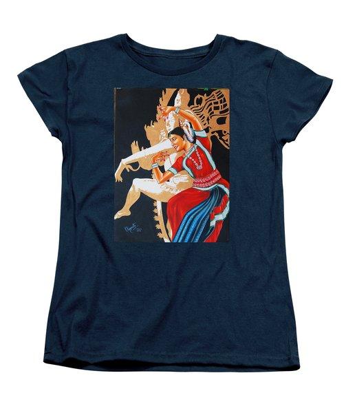 The Dance Divine Of Odissi Women's T-Shirt (Standard Cut) by Ragunath Venkatraman