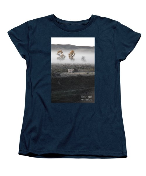 Women's T-Shirt (Standard Cut) featuring the photograph The Dream Cow Of Mourning by Brian Boyle