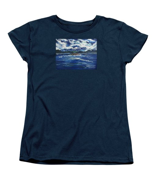 Women's T-Shirt (Standard Cut) featuring the painting The Enchanting Sea  by Lori  Lovetere