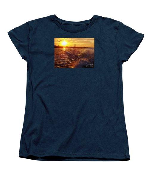 The End To A Fishing Day Women's T-Shirt (Standard Cut) by John Telfer