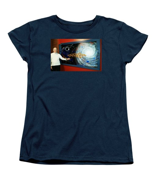 Women's T-Shirt (Standard Cut) featuring the painting The  Enigma  Painting by Hartmut Jager