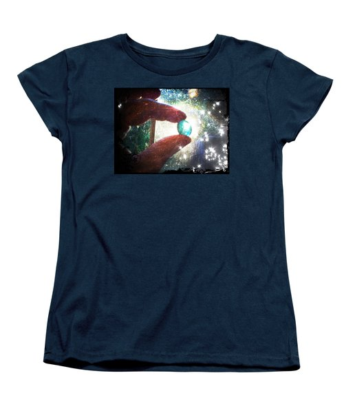 Women's T-Shirt (Standard Cut) featuring the photograph The Fairy Stone - Nature Angel  by Absinthe Art By Michelle LeAnn Scott