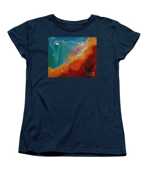 The Final Frontier Women's T-Shirt (Standard Cut) by Barbara McMahon