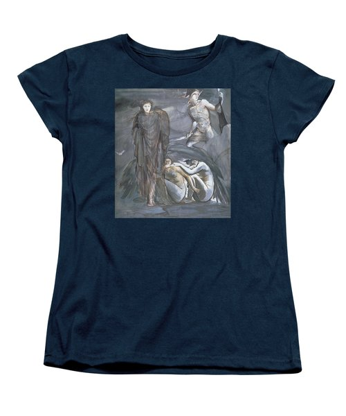 The Finding Of Medusa, C.1876 Women's T-Shirt (Standard Cut) by Sir Edward Coley Burne-Jones