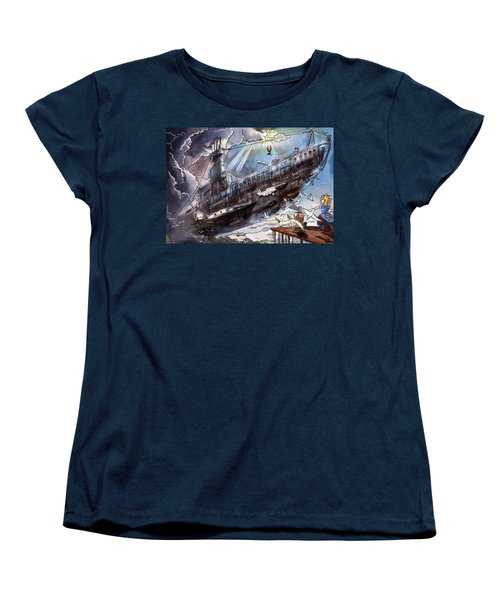The Flying Submarine Women's T-Shirt (Standard Cut) by Reynold Jay