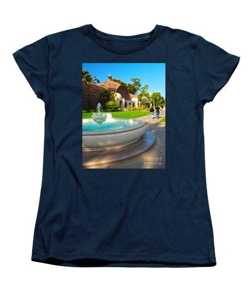 Botanical Building And Fountain At Balboa Park Women's T-Shirt (Standard Cut) by Claudia Ellis