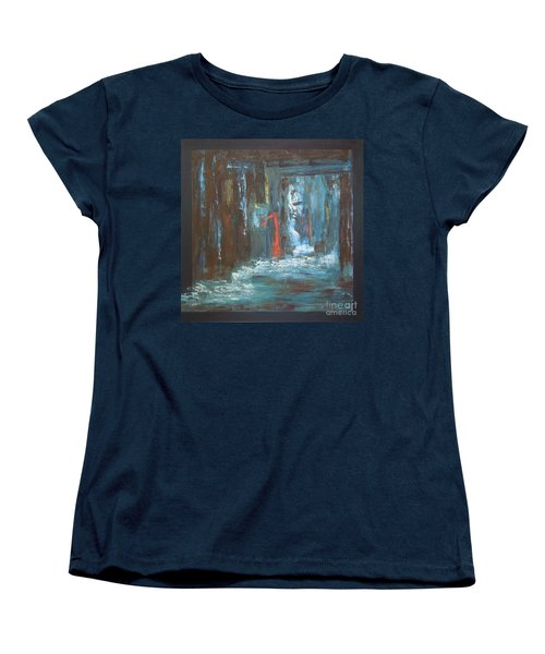 Women's T-Shirt (Standard Cut) featuring the painting The Free Passage by Mini Arora