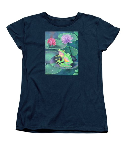 The Frog Women's T-Shirt (Standard Cut) by Vivien Rhyan