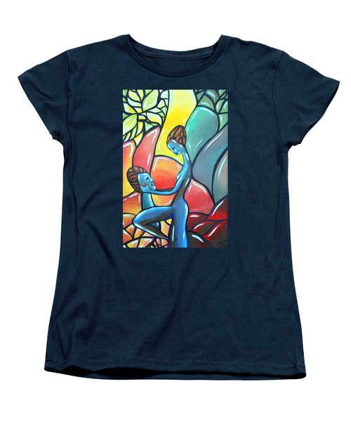 Women's T-Shirt (Standard Cut) featuring the painting The Garden by AC Williams