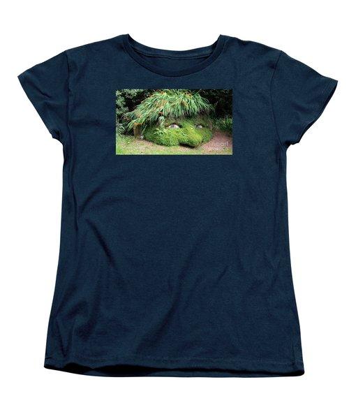 The Giant's Head Heligan Cornwall Women's T-Shirt (Standard Cut) by Richard Brookes