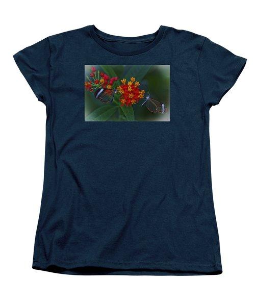 The Glasswinged Butterfly Women's T-Shirt (Standard Cut) by Maj Seda