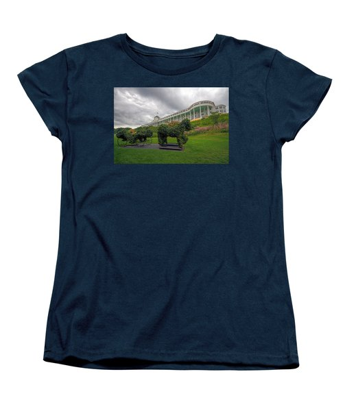 The Grand Hotel Mackinac Island Women's T-Shirt (Standard Cut) by Jerry Gammon