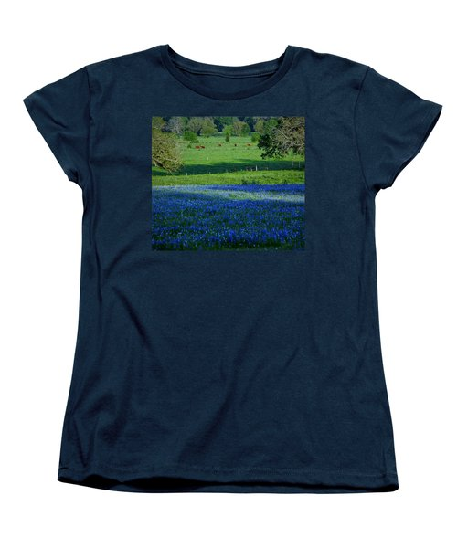 Women's T-Shirt (Standard Cut) featuring the photograph The Pastures Of Central Texas by John Glass