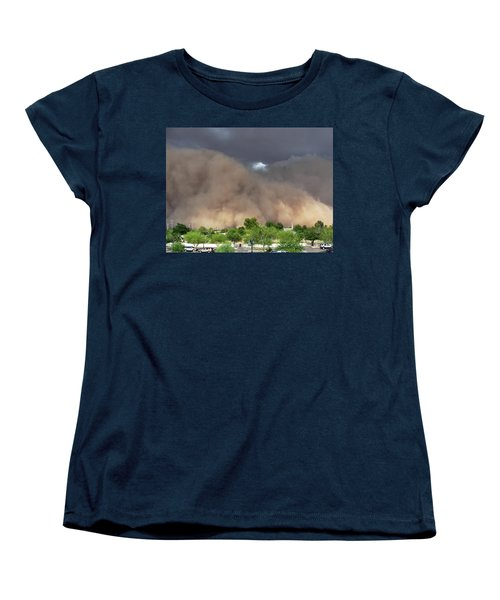 The Haboob Is Coming Women's T-Shirt (Standard Cut) by Natalie Ortiz