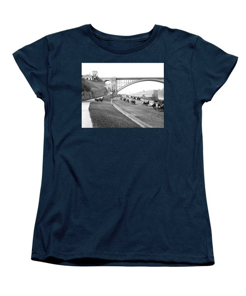 The Harlem River Speedway Women's T-Shirt (Standard Cut) by Detroit Publishing Company