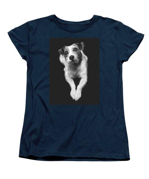 The Jack Russell Stare- Got Ball? Women's T-Shirt (Standard Cut) by Rachel Hames