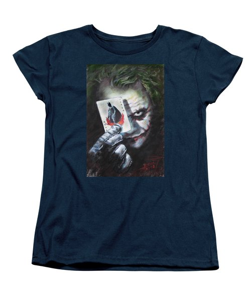 The Joker Heath Ledger  Women's T-Shirt (Standard Cut) by Viola El