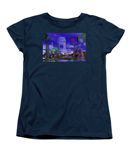 Women's T-Shirt (Standard Cut) featuring the photograph The Lakes Of Zorg by Mark Blauhoefer