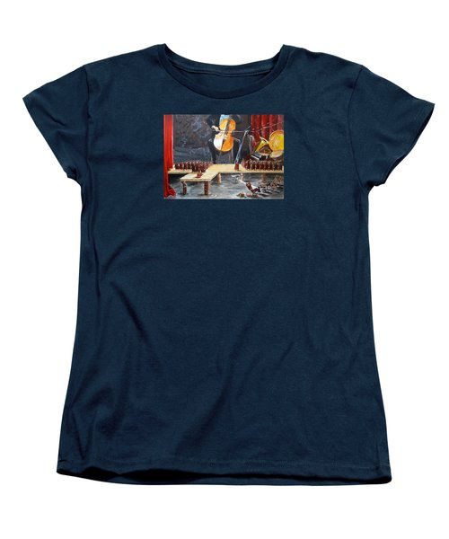The Last Concert Listen With Music Of The Description Box Women's T-Shirt (Standard Cut) by Lazaro Hurtado