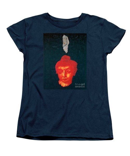 Women's T-Shirt (Standard Cut) featuring the painting The Light Of Face_ Sold by Fei A