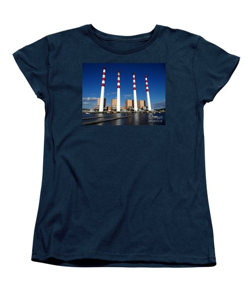 Women's T-Shirt (Standard Cut) featuring the photograph The Lilco Towers by Ed Weidman