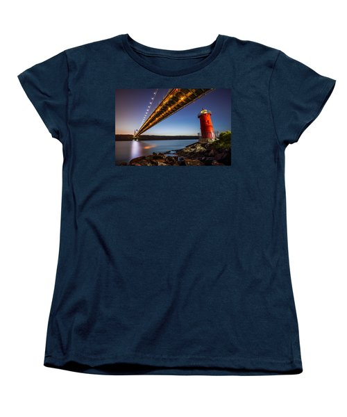 Women's T-Shirt (Standard Cut) featuring the photograph The Little Red Lighthouse by Mihai Andritoiu