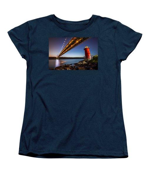 The Little Red Lighthouse Women's T-Shirt (Standard Cut) by Mihai Andritoiu