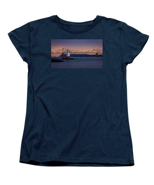 The Little White Lighthouse Women's T-Shirt (Standard Cut) by Mihai Andritoiu