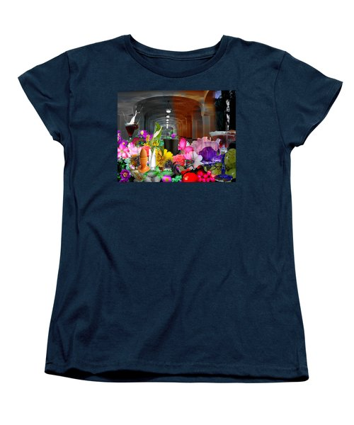 Women's T-Shirt (Standard Cut) featuring the digital art The Long Collage by Cathy Anderson