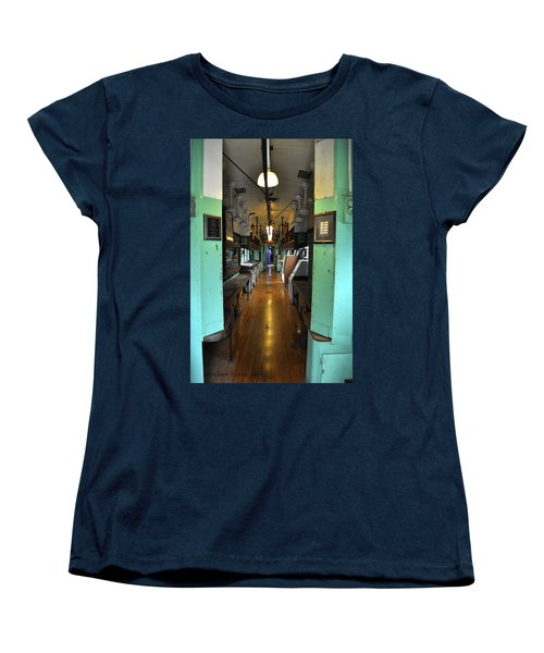 Women's T-Shirt (Standard Cut) featuring the photograph The Mail Car From The Series View Of An Old Railroad by Verana Stark