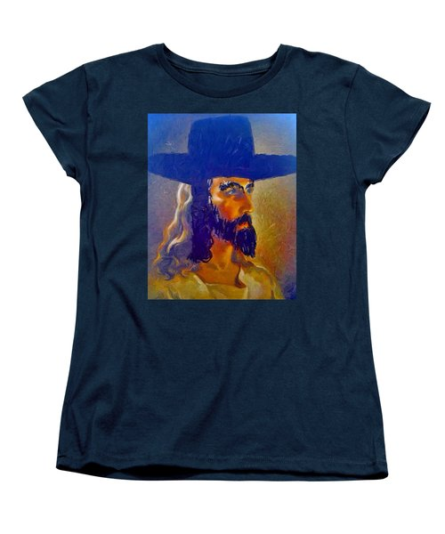 Women's T-Shirt (Standard Cut) featuring the painting The Man by Lisa Piper