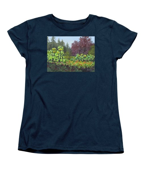 Women's T-Shirt (Standard Cut) featuring the painting The Matriarchs by Karen Ilari