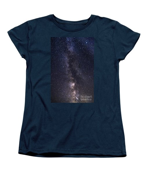 The Milky Way From Phippsburg Maine Usa Women's T-Shirt (Standard Cut) by Patrick Fennell