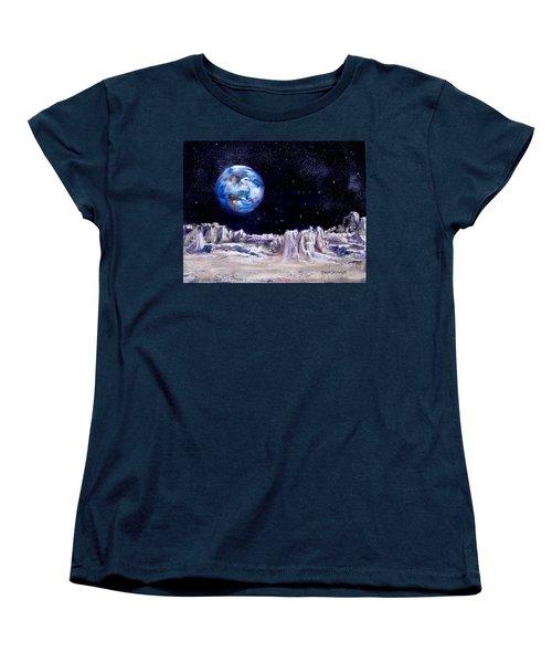 The Moon Rocks Women's T-Shirt (Standard Cut) by Jack Skinner