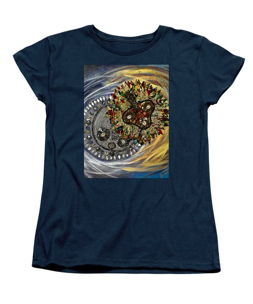 The Moon's Eclipse Women's T-Shirt (Standard Cut) by Apanaki Temitayo M