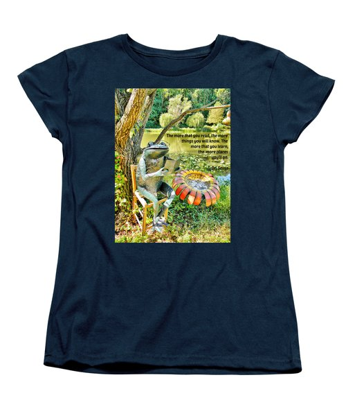 The More That You Read... Women's T-Shirt (Standard Cut) by Jean Goodwin Brooks