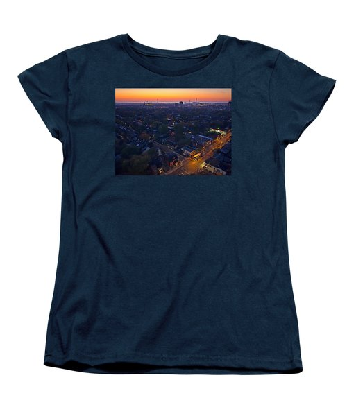 The Morning Bus Women's T-Shirt (Standard Cut) by Keith Armstrong