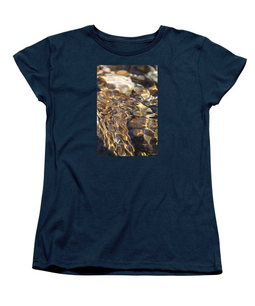 The Music And Motion Of Water Women's T-Shirt (Standard Cut) by Amy Gallagher