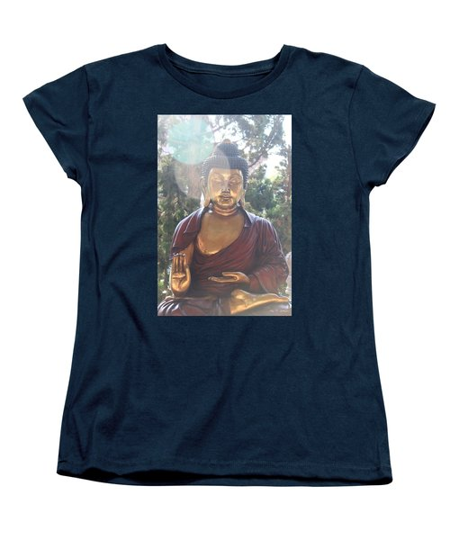 The Mystical Golden Buddha Women's T-Shirt (Standard Cut) by Amy Gallagher
